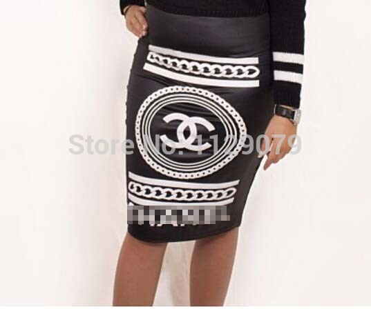 2014 new summer fashion brand black spandex print pencil skirt ladies casual sexy skirt OM152-in Skirts from Apparel & Accessories on Aliexpress.com | Alibaba Group