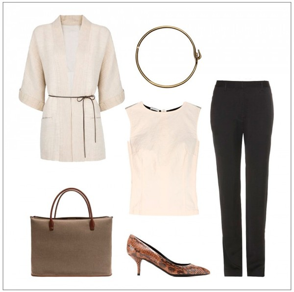 style by kling jacket belt bag shoes pants t-shirt mid heel pumps