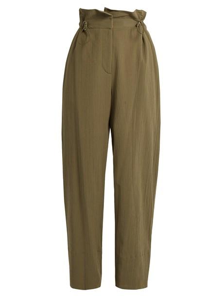 Stella McCartney cotton khaki pants