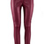 ROMWE Faux Leather Skinny Burgundy Pants