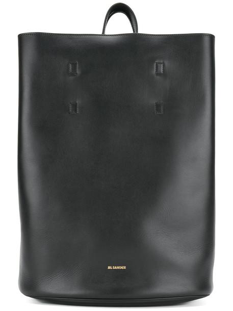 Jil Sander women leather black bag
