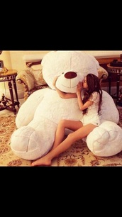home accessory,big,bear,teddy bear,giant teddy bear,white bear
