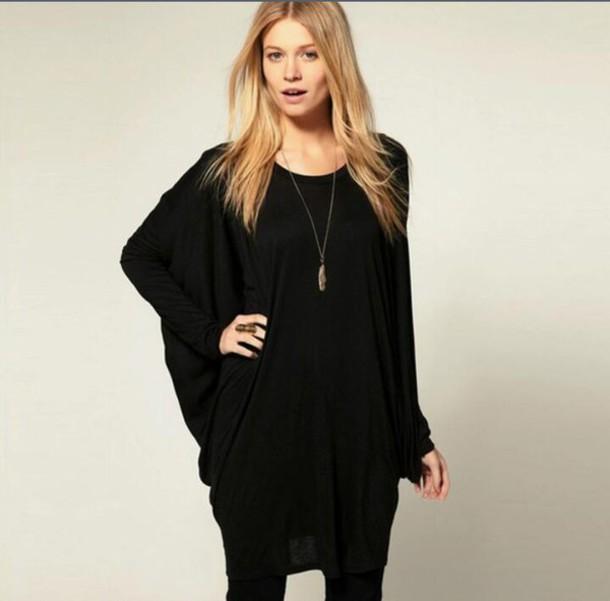 sweater blouse noir
