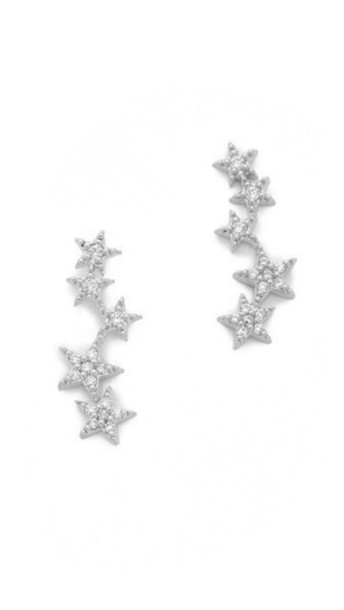 jewels ear crawler earrings stars tai earrings silver earrings bikiniluxe
