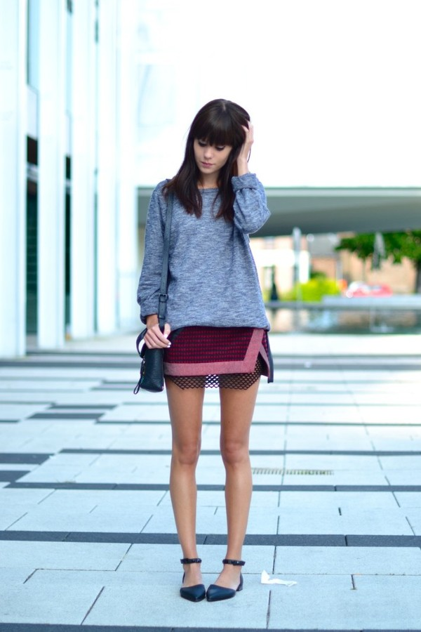 Sweater: lovely by lucy, skirt, dress, shoes, bag