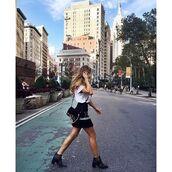 t-shirt,as by df,white tee,essential,maja malnar,fashion blogger,nyfw,nyfw 2016,new york fashion week,streetstyle,new york city