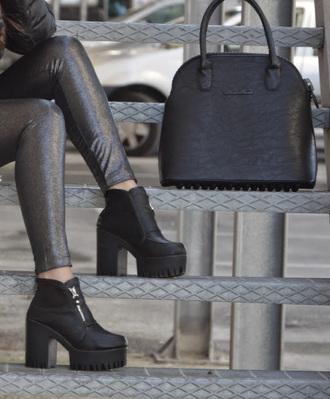 leggings metallic grey softgrunge grunge shoes