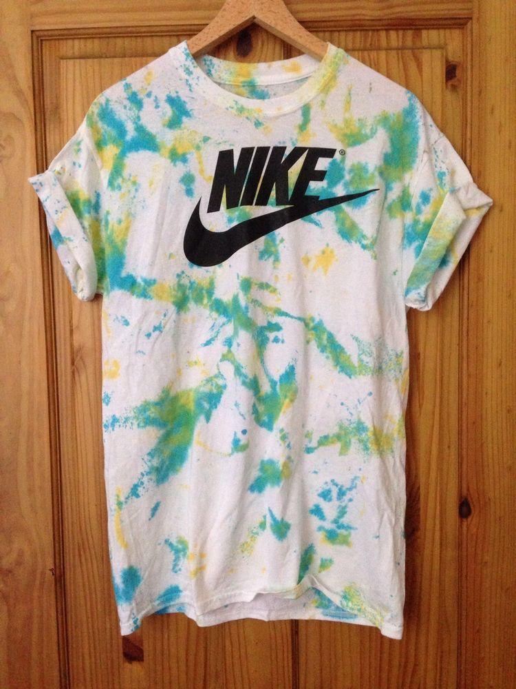 Vintage Acid Wash unisex Tie Dye T-shirt Top urban Retro Ibiza Skate Sz M