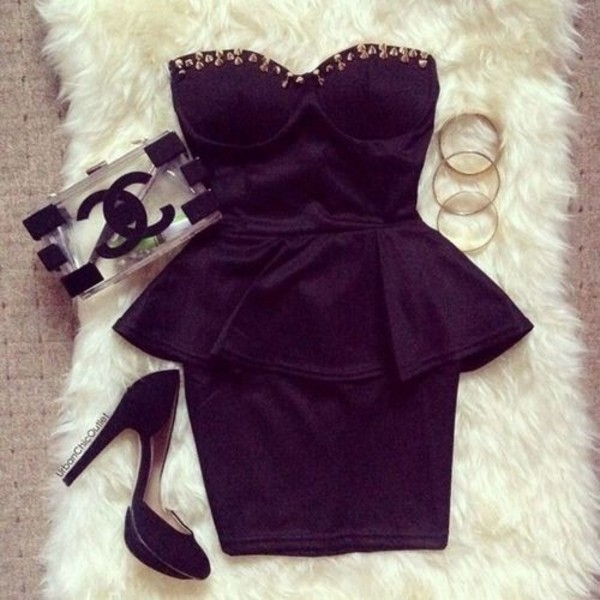dress little black dress bag