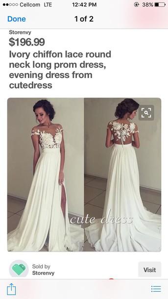 0c124d523b dress ivory dress wedding dress prom dress lace dress chiffon dress beach  wedding dress 2016 wedding