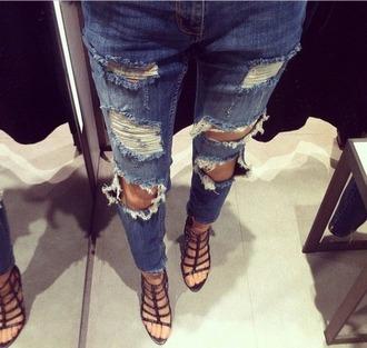 jeans girl woman style ripped jeans street style streetwear
