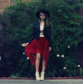 galore beneath the stars,hat,shirt,sunglasses,jacket,jewels,skirt,shoes,coat
