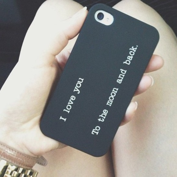phone case jewels iphone case bag iphone, case, love, moon and back, cute black text iphone case case Belt phone case for iphone 5c
