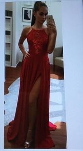 bag,dress,red dress,red flower patter,long,sleeveless