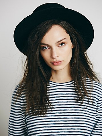 Free people gabrielle flat top screw hat