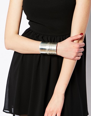 Made | Made Fundo Silver Long Cuff Bracelet at ASOS