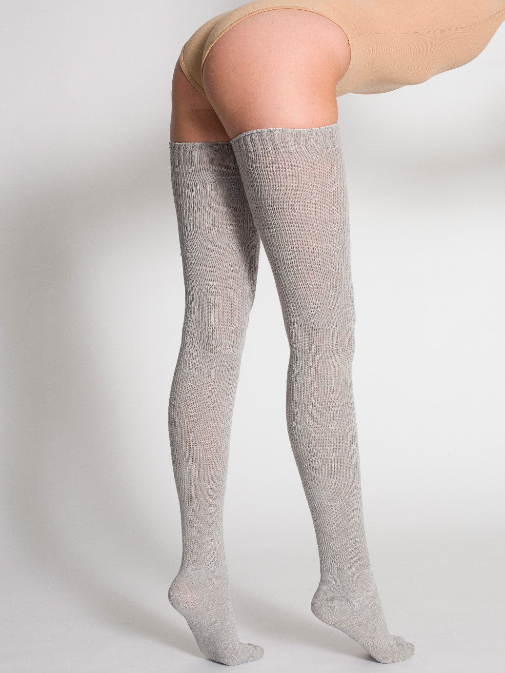 Heather Solid Thigh-High Socks | American Apparel