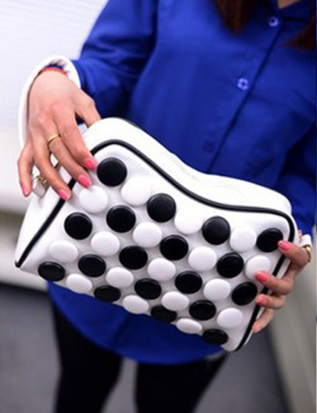 dots bag women handbag