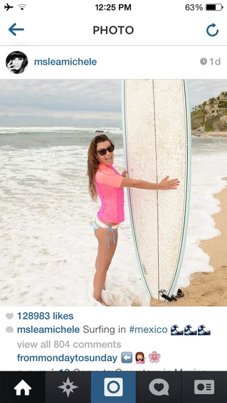 swimwear lea michele surfing bikini perfect