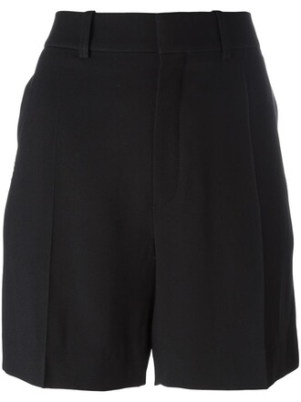 shorts women black silk