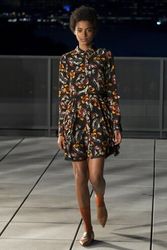 dress fall dress fall colors fall outfits flats ny fashion week 2016 runway model thakoon