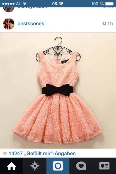 coral coral dress sweet black black bow belt