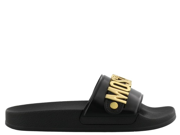 Moschino gold black shoes