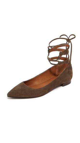 ballet dark flats ballet flats taupe shoes