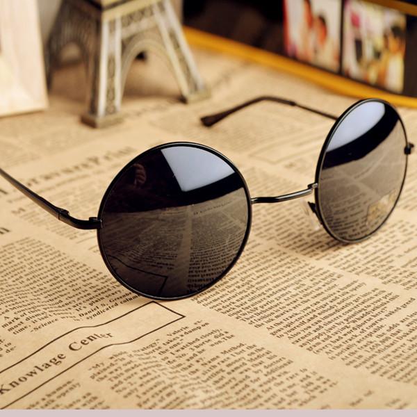 Thin Bar Round Sunglasses on Luulla