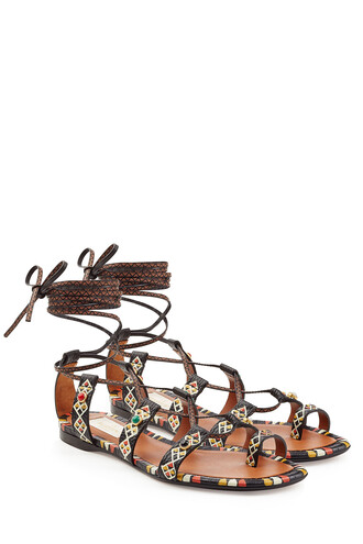 embellished sandals leather sandals leather multicolor shoes