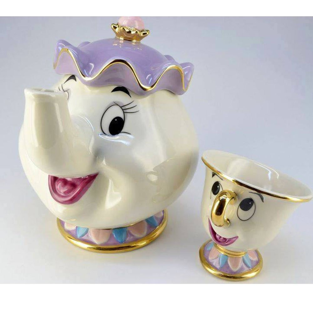 Amazon.com: NEW Beauty and The Beast Mrs. Potts Chip Tea Pot & Cup set Teapot Mug ( Pot & Cup): Kitchen & Dining