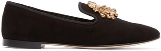 embellished loafers black shoes