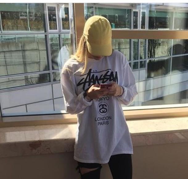 hat tumblr tumblr outfit tumblr girl tumblr fashion yellow cap cb48e5375ec