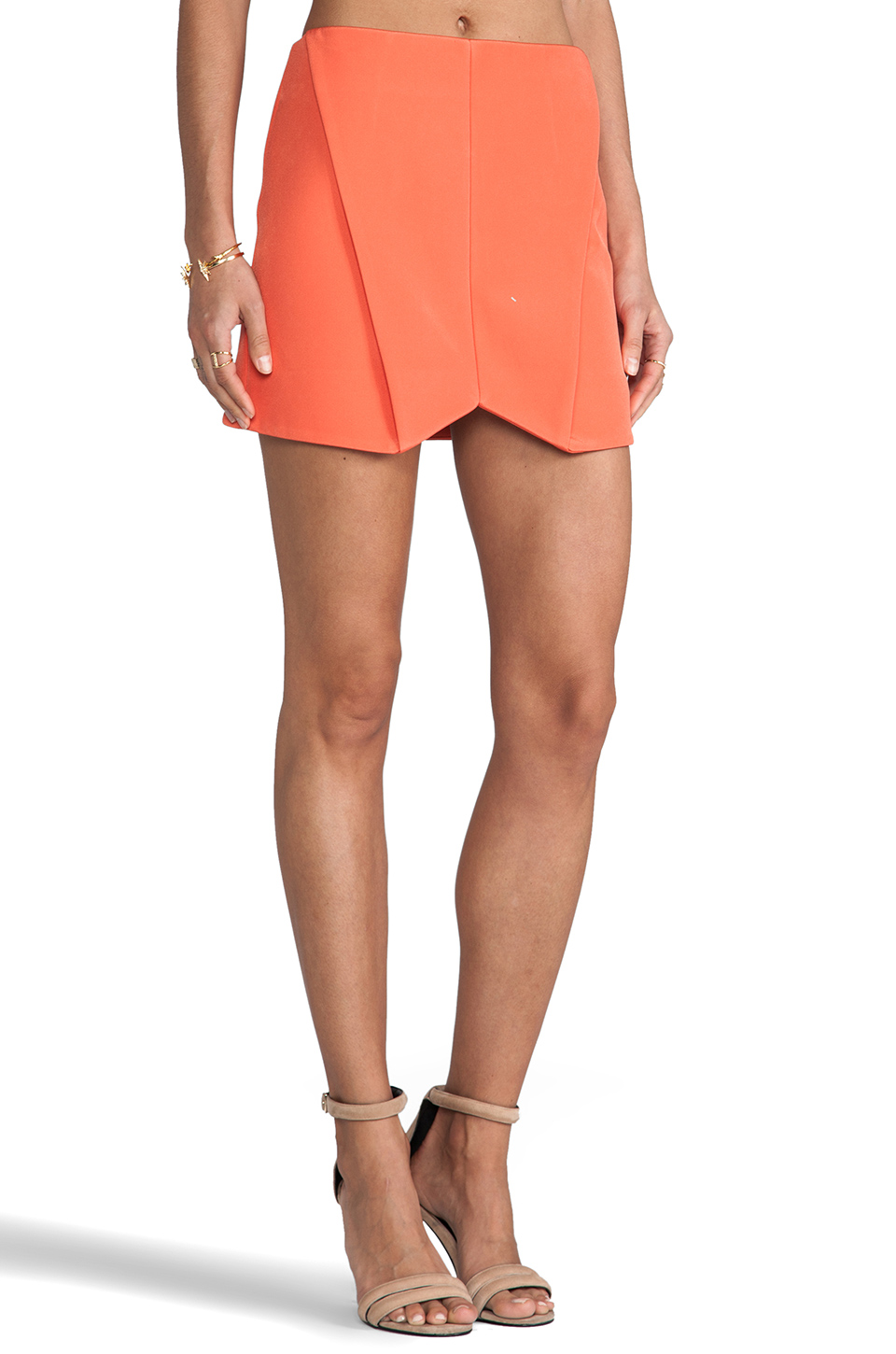 Cameo Everybody Talks Skirt in Tangerine from REVOLVEclothing.com