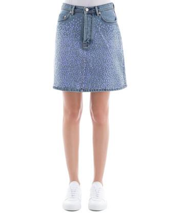 skirt light cotton blue light blue