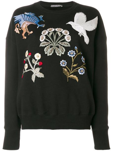 Alexander Mcqueen jumper embroidered women cotton black sweater