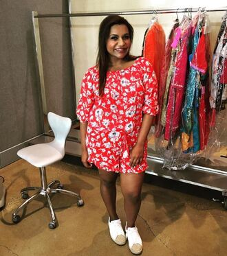 shoes sneakers mindy kaling romper the mindy project instagram