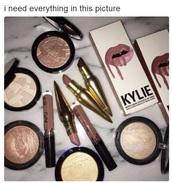 make-up,lipstick,contour,gold highlight