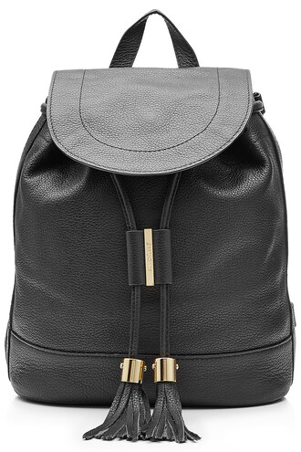 straps backpack leather backpack leather black bag