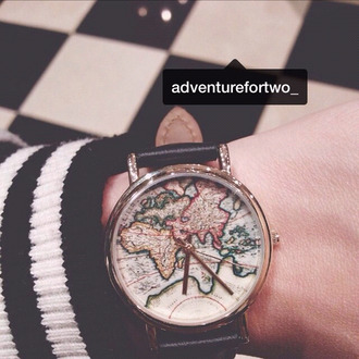 jewels watch world map watch map print