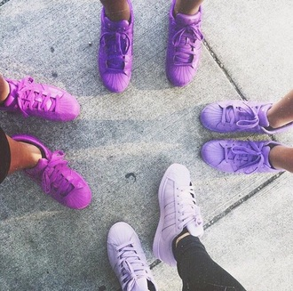 shoes superstar colorful adidas purple cool wow