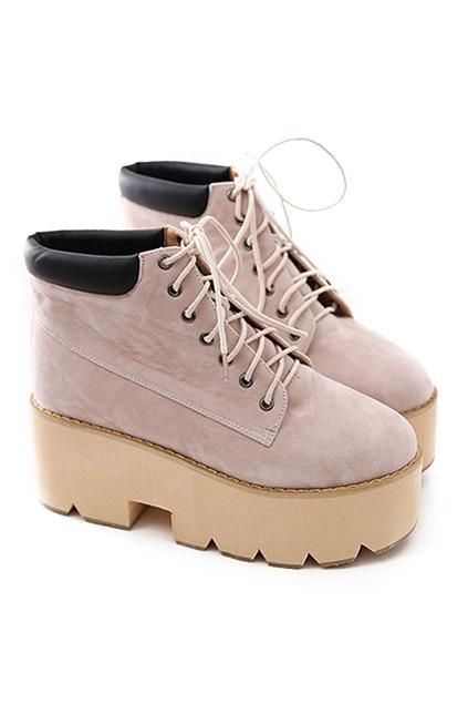 shoelace platform casual shoes