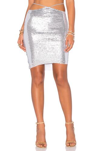 skirt mini skirt mini metallic silver