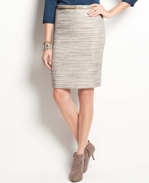 Icicle Tweed Pencil Skirt | Ann Taylor