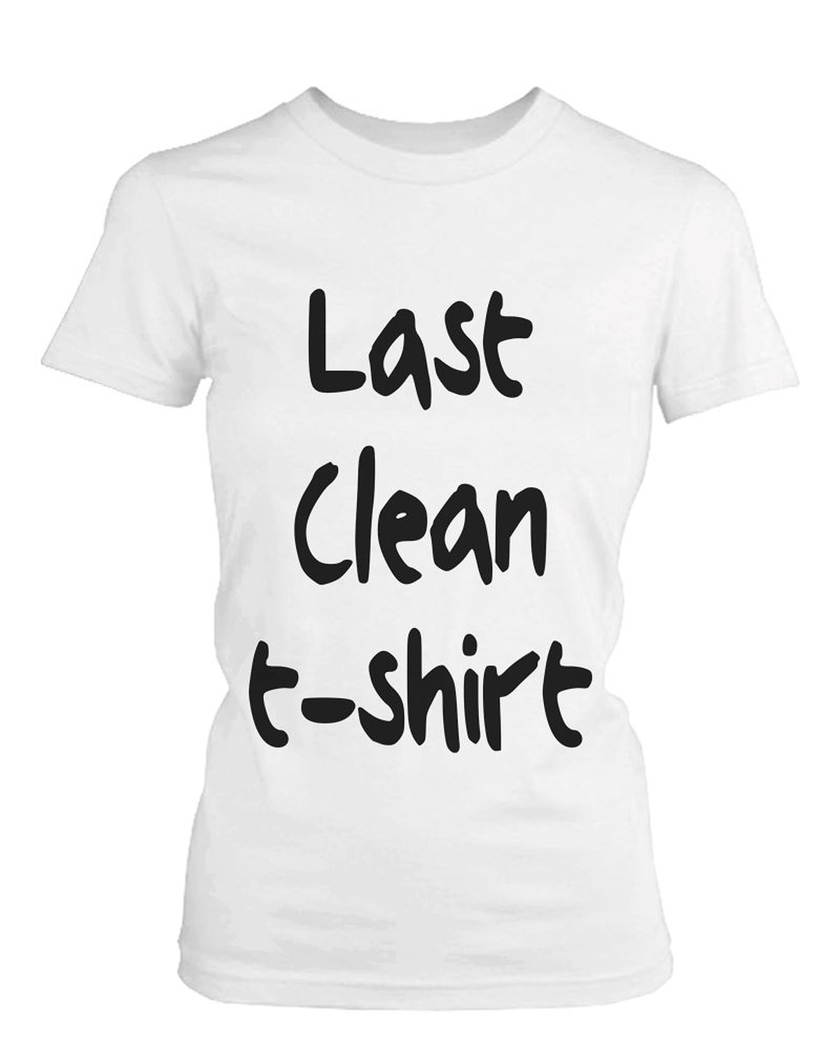 Women 39 s white cotton t shirt last clean t for How to clean white dress shirts