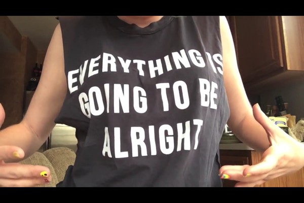 t-shirt black everything is going to be alright