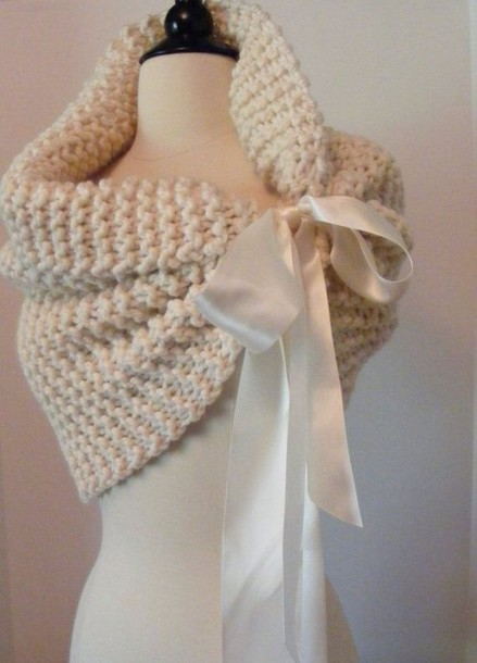scarf knitted scarf crochet shawl cream nitted nitted scarf