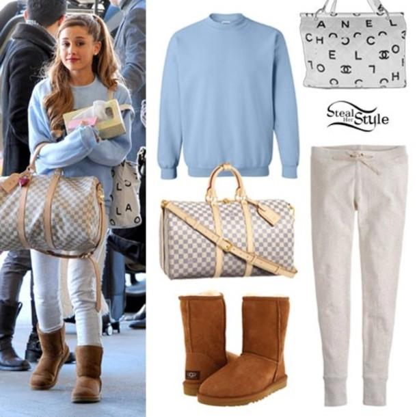 Sweater: ariana grande, louis vuitton, ugg boots, light ...