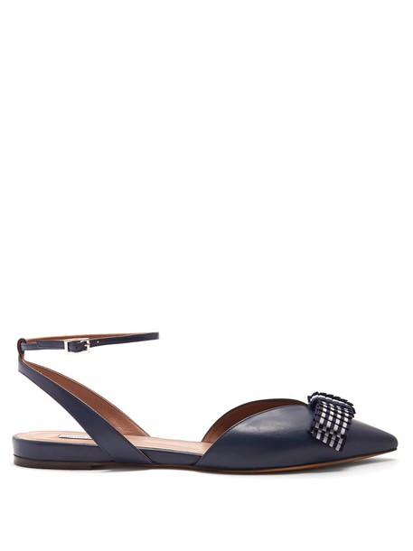 tabitha simmons bow flats bow flats navy shoes