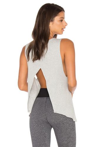 back open open back grey top